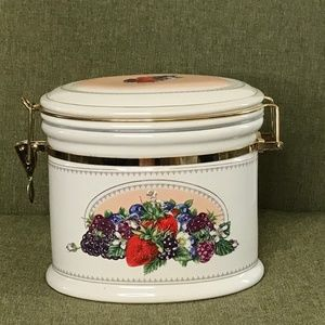 VTG Knotts Berry Farm Oval Canister Jar Kitchen